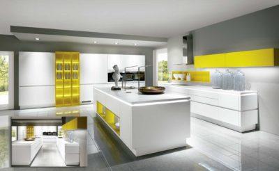 Cocina Modelo lux- combinación amarillo solar